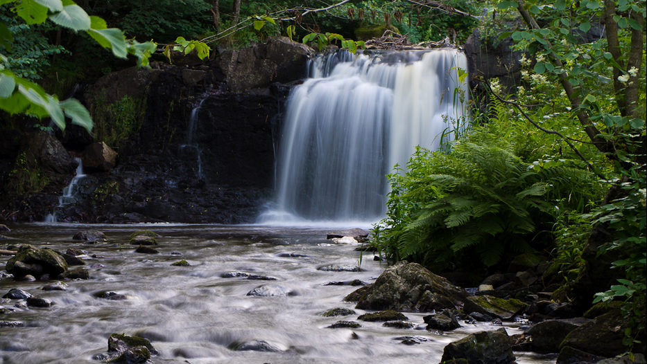 Hallamölla vattenfall är skånes högsta med sina 23 meter.