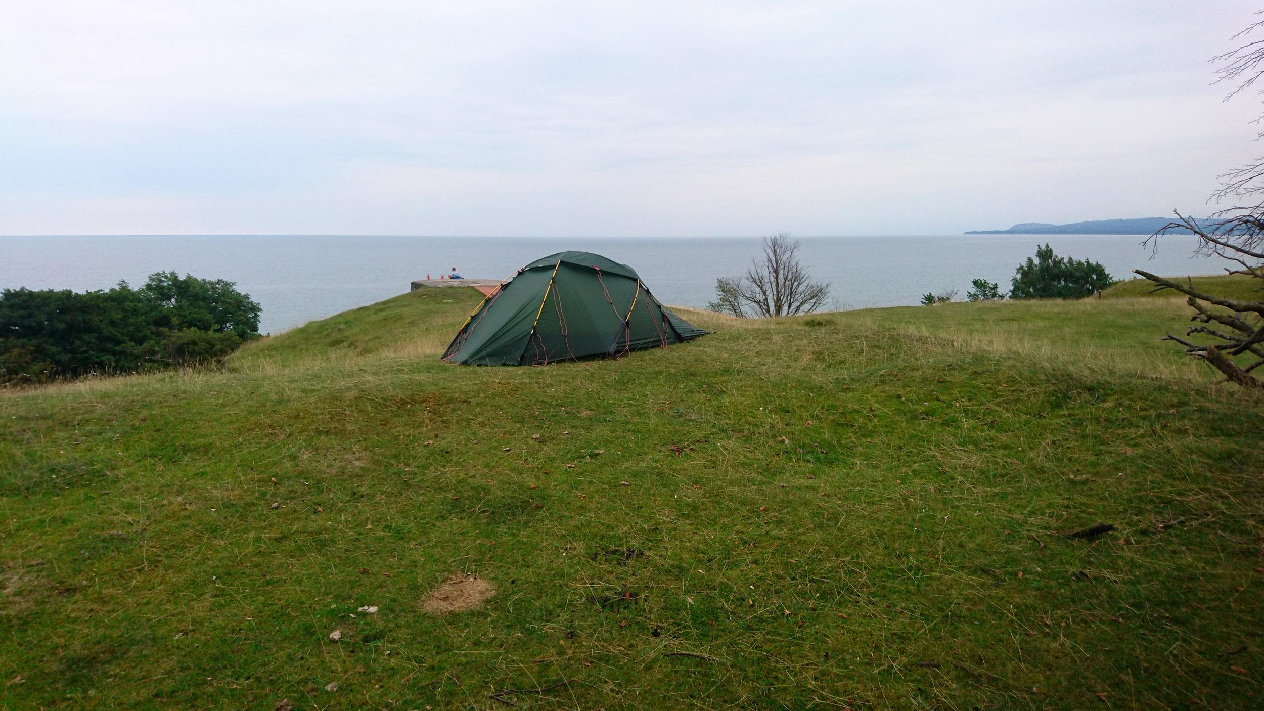 Att ha drygt fem kilometer till en sådan här tältplats är en ynnest.